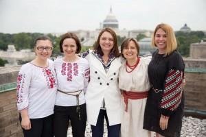 З колегами із Голосу Америки. Друга справа - Ірина Матвійчук. 2016 р.
