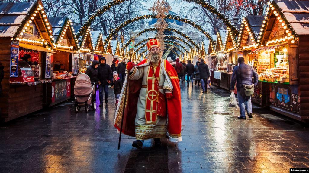 Миколай на львівському ярмаркові